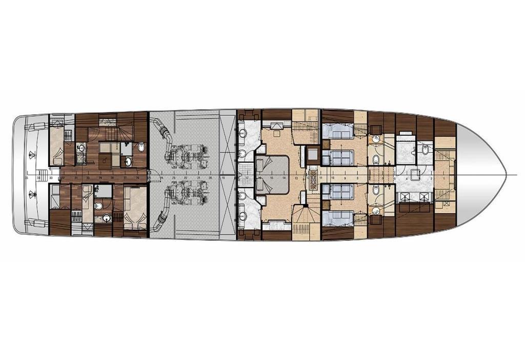 2020 Ocean Alexander 100 Motoryacht Flybridge Image Thumbnail #36