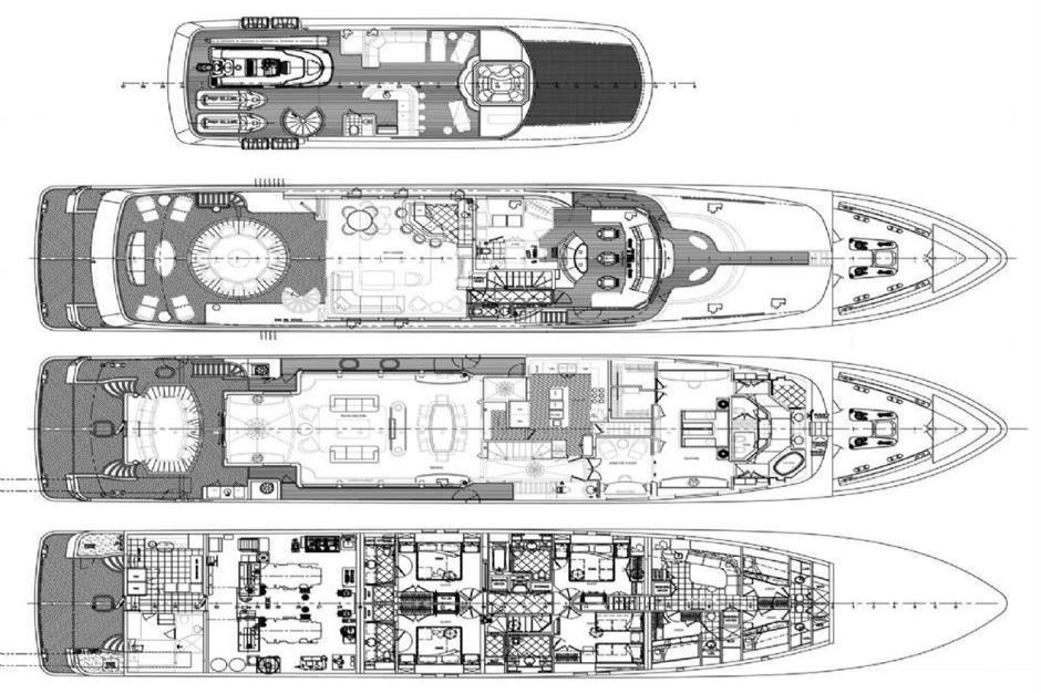 2010 Trinity Yachts Tri-Deck MY Image Thumbnail #34