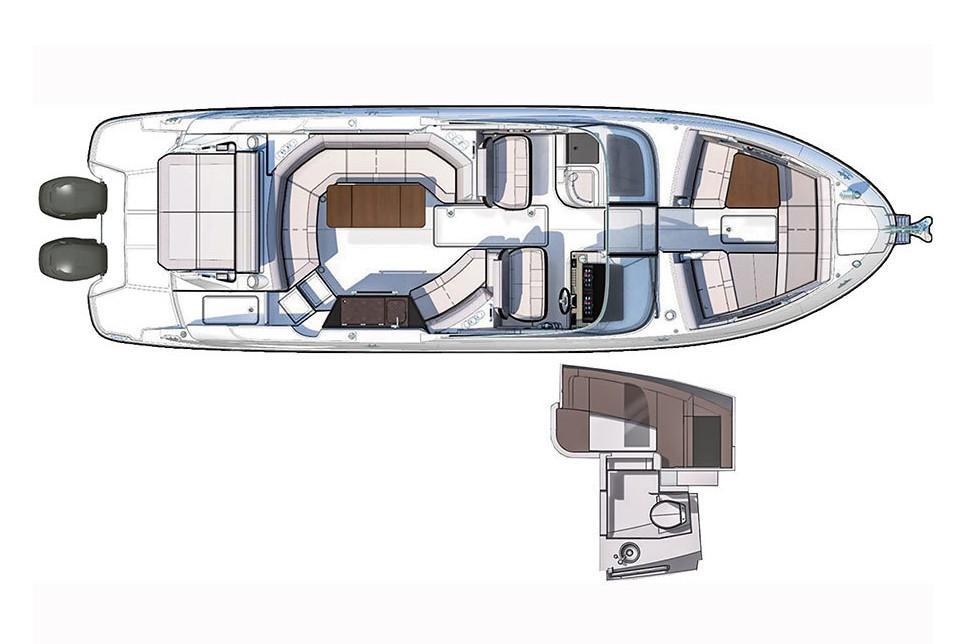 2021 Sea Ray                                                              SLX 350 OB Image Thumbnail #16